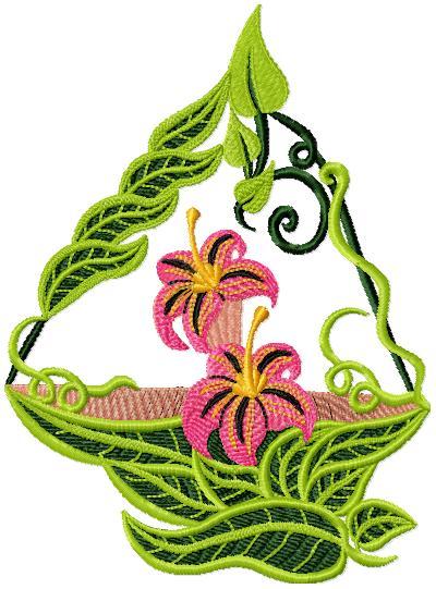Tubes barques fleuries