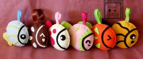 Poisson, feutrine, pêche, jeux enfants, loisirs créatifs.