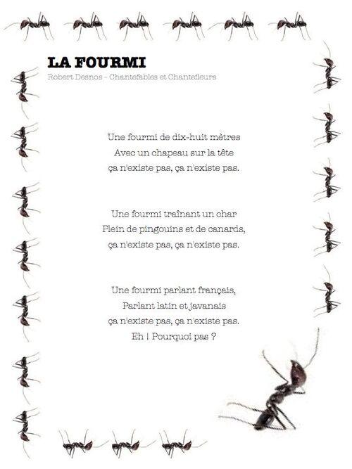 la fourmi, Robert Desnos-ce1 ce2