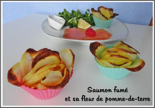 Saumon fumé et sa fleur de pomme de terre