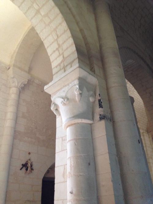 Eglise d'Ingrandes - Chapiteau roman