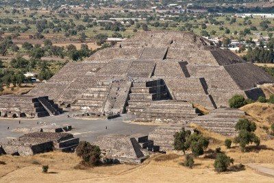 Pyramides de la Lune et du Soleil à Teotihuacán mexique