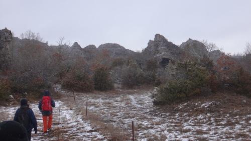Les Aiguillons par la face nord