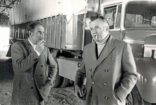 Achille Zavatta et Jean Richard le 16 avril 1969