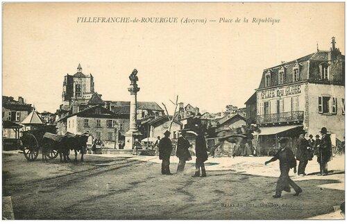 04 - La Place de la République et la sortie de la ville ... vers Rodez