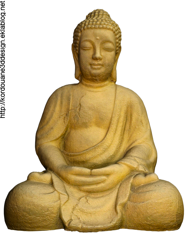 Image de bouddha en pierre (tube, render)