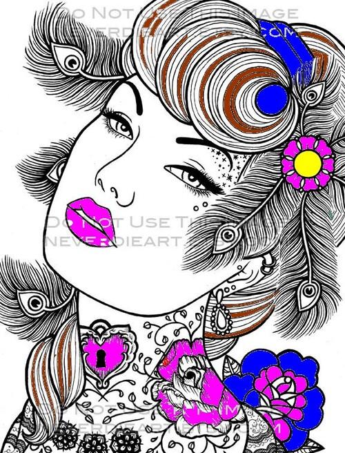 mes coloriages avec photofiltre
