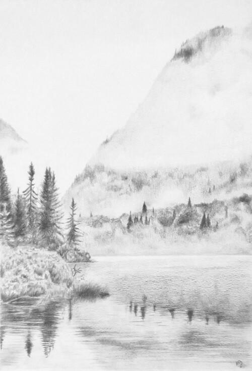 Paysage #3 : Lac & Montagnes