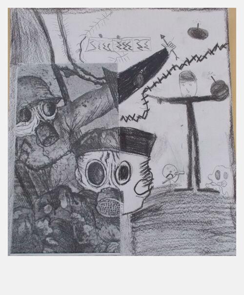 Otto Dix en classe, Assaut sous les gaz
