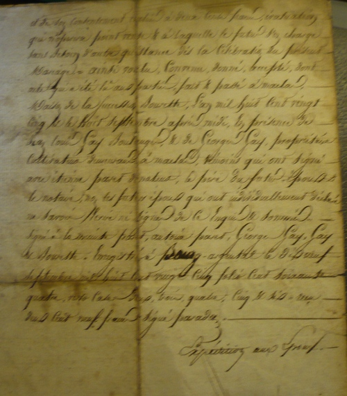 Contrat de mariage entre Etienne Paret  et Jeanne Guinot.