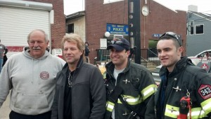 Jon Bon Jovi Visits First Responders in Sea Bright