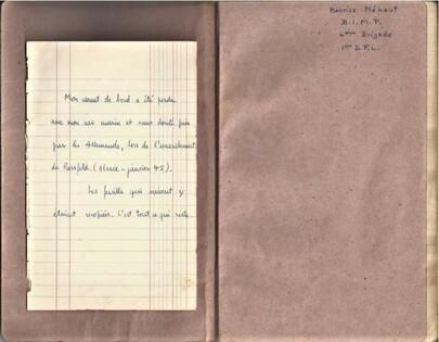 * Carnet de route de Maurice MEHAUT (BIMP) - 1 - Ses deux tentatives d'évasion par l'Espagne pour rejoindre la France Libre