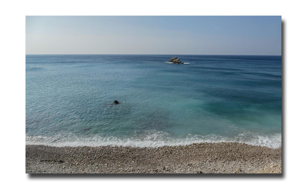 """Une île et une """"histoire de bleu""""."""