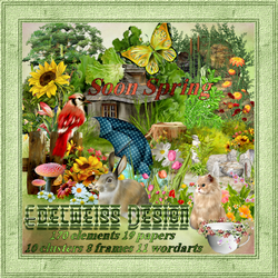 "**CT EDELWEISS DESIGNS*** Beautiful scrapkit called ""Soon_Spring"" brings"