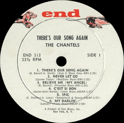 "The Chantels : Album "" There's Our Song Again "" End Records END 312 [ US ]"