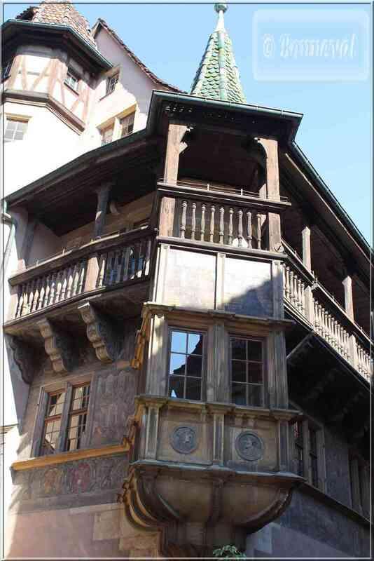 Alsace Haut-Rhin Colmar Maison Pfister oriel et galerie