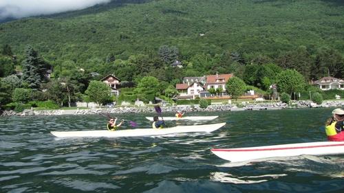 Canoé kayak sur le lac du Bourget 5/6/2012
