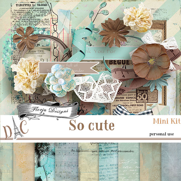 So Cute { Mini Kit PU } by Florju Designs