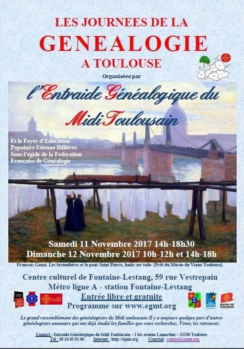 Journées de la Généalogie – Toulouse (31)