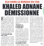 Khaled Adnane démissionne