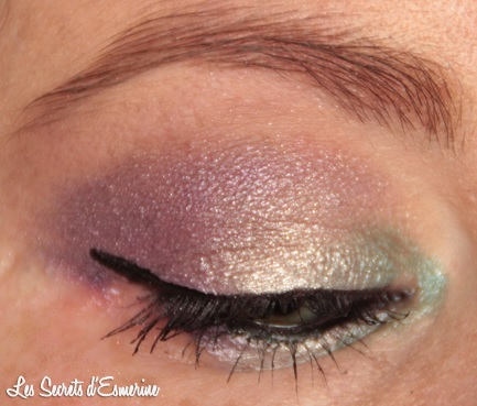maquillage, yeux, irisé, makeup, vert, beige, violet