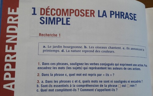 C/ Décomposer une phrase simple