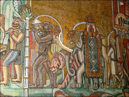 Einar Forset Mozaïques de la salle d'or....