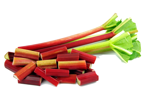 Moelleux à la rhubarbe et amandes