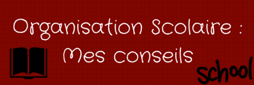 [Organisation Scolaire]: Mes conseils