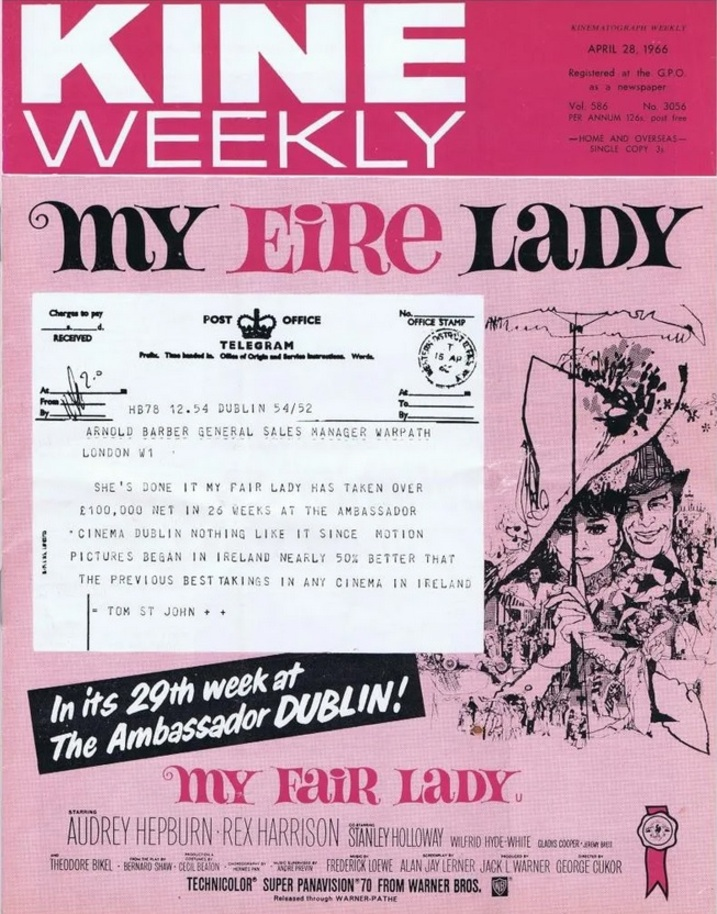 MY FAIR LADY BOX OFFICE UK 1966