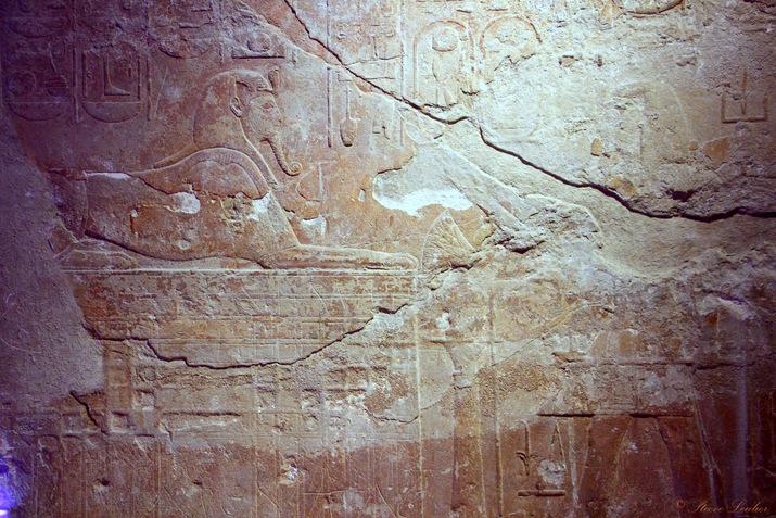 Nouvel Empire, XIXe dynastie, Ramsès II adorant le Sphinx
