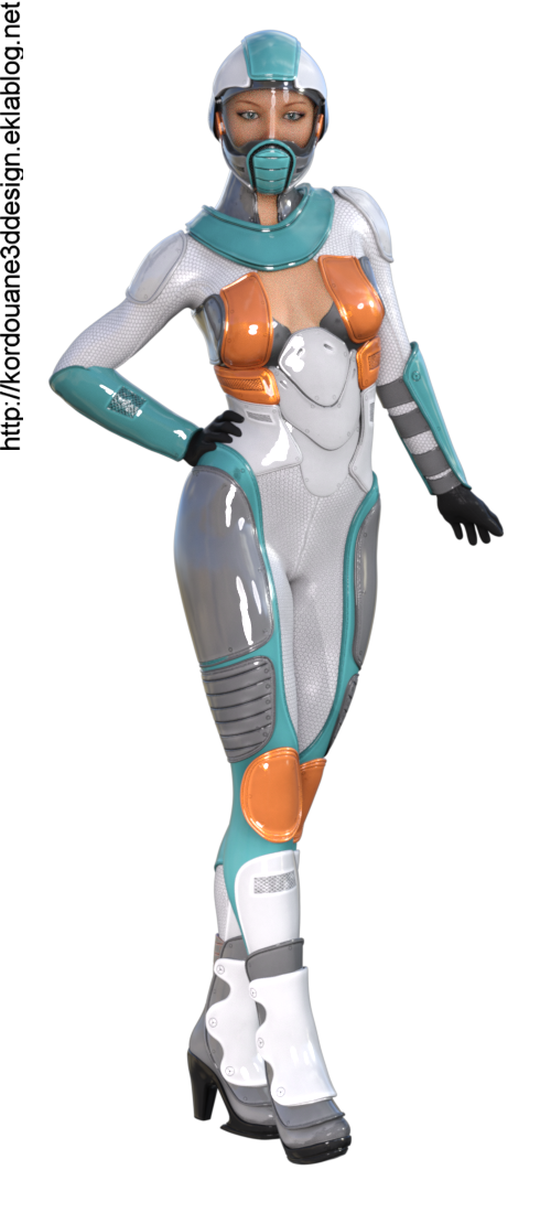 Tube de femme Sci-Fi (image-render)