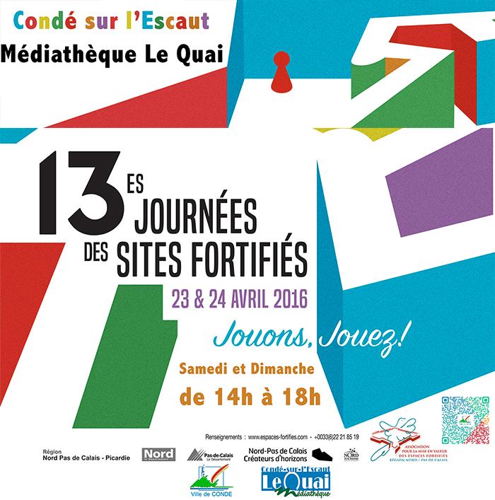 Journées des villes fortifiées, à Condé-sur-l'Escaut les 23 et 24 avril