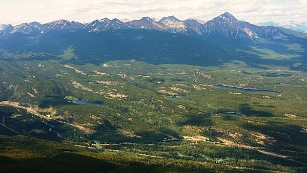 Jour 19 Jasper Tramway vue sur lacs