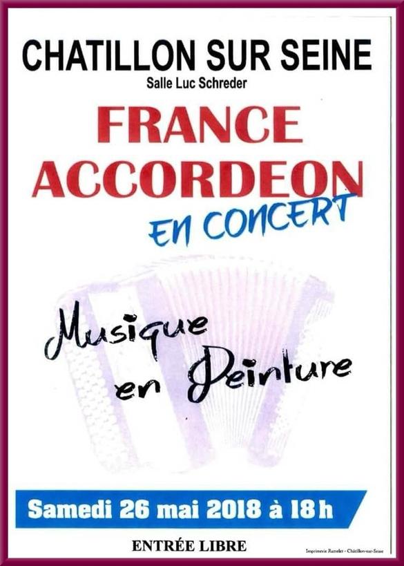 Un beau concert de France-Accordéon  en collaboration avec le salon des peintres des Amis du hâtillonnais