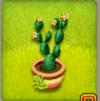pot de cactus à feuilles fleur-jaune