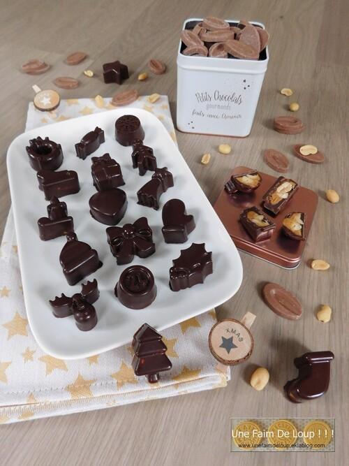 Chocolats de noël aux cacahuètes