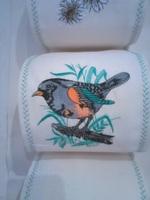 rangement toilettes: oiseaux