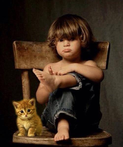 enfant chat