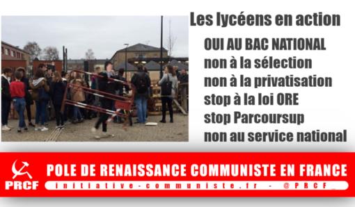 Réforme Blanquer, Parcoursup, «Choose France»… : Les lycéens mobilisés contre la régression ! ( IC.fr-11/12/18)