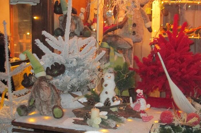 Marché de Noël de nuit, à Montreux en Suisse