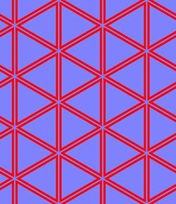 Motif en forme d'hexagone