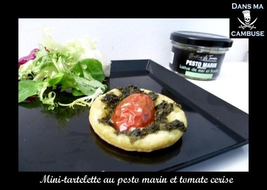 mini tartelettes pesto marin tomates cerises