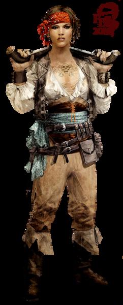 Tube Femme pirate #1