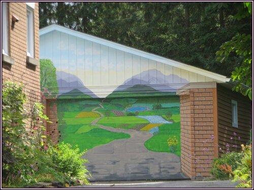 Une porte de garage artistique.....