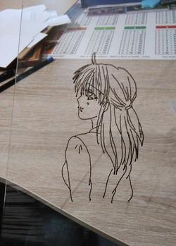 préparation de mes dessins pour le mur de ma chambre