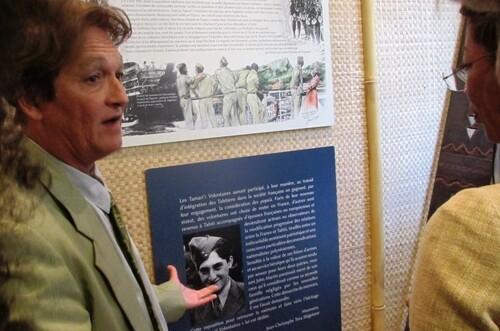 """5 Juin :  L' Exposition """"Tamari'i volontaires"""" ( 5 - 26 juin)  a été inaugurée à la Délégation de la Polynésie française"""