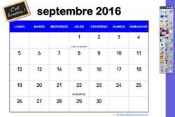 Mon calendrier  pour le tableau numérique interactif (TNI)