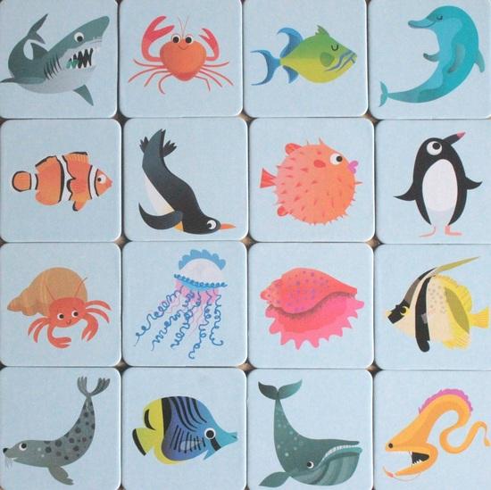 """Mon coffret livre et jeux sous la mer / Les petites bêtes : jeu de loto et jeu de mémoire """"Jeunesse"""""""
