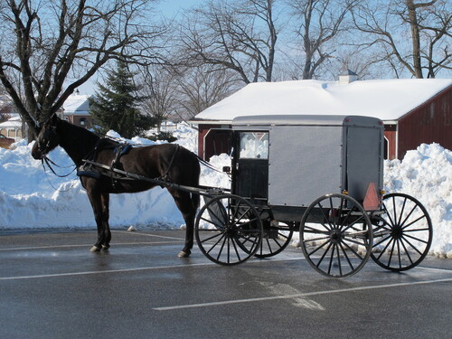 Ambiance hivernale en pays Amish